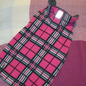 RC PETS hot pink plaid dog vest
